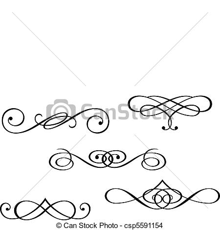 Swirl clipart monogram Swirls elements monograms Clip free