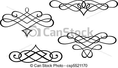 Swirl clipart monogram Monogram elements monograms EPS art