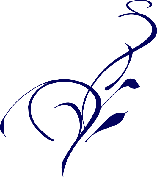 Dark Blue clipart swirl  com Design Clip Clker