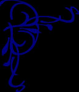 Blue Flower clipart swirl flower Art Clip Navy Free