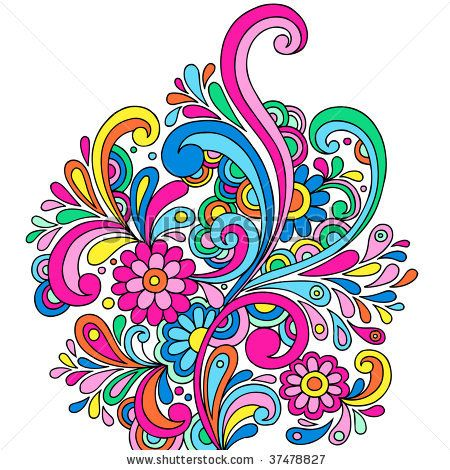 Swirl clipart paisley With doodle on Best Abstract