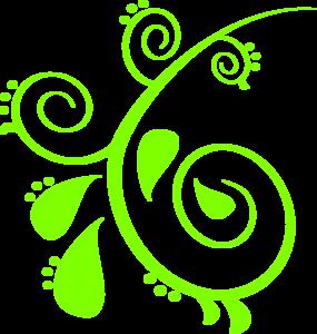 Swirl clipart paisley Art art Green Clip com