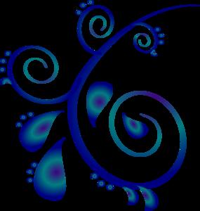Scroll clipart swirls  Scroll Blue Clipart
