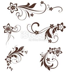 Swirl clipart scroll line  Simple Designs Could Black