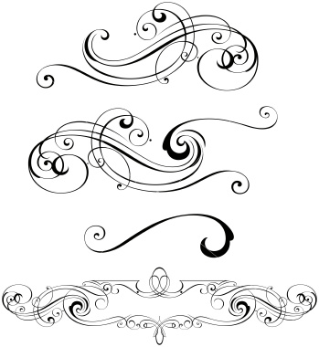 Swirl clipart scroll line Royalty Designs Vector embellishments word