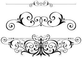Drawn scroll Text clipart fleur fretwork fancy