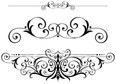 Classical clipart victorian scroll Illustrations images stock borders scrolls