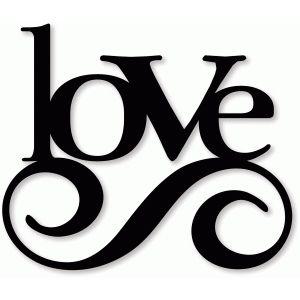 Swirl clipart silhouette Best love Design on Silhouette