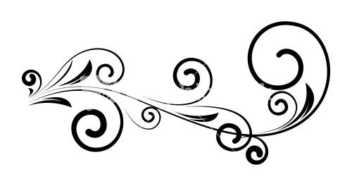 Swirl clipart silhouette Silhouette Vintage Silhouette Decorative Floral