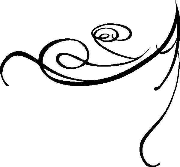 Swirl clipart simple Sainde Black org Black swirls