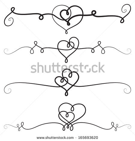 Hearts clipart rustic heart With borders borders with vignettes