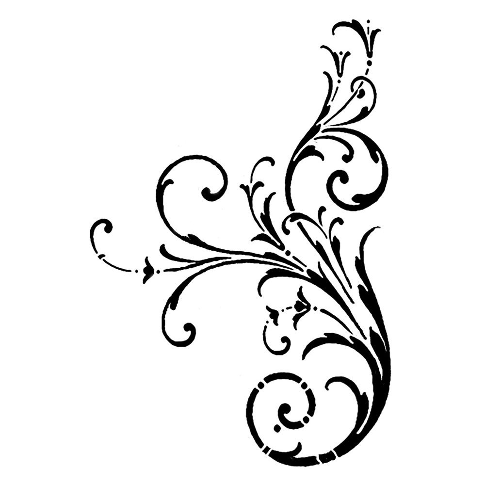 Swirl clipart single Elegant  Artwork Rubber on