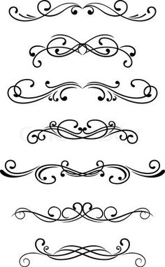 Swirl clipart stencil On Vector patterns Etsy Could