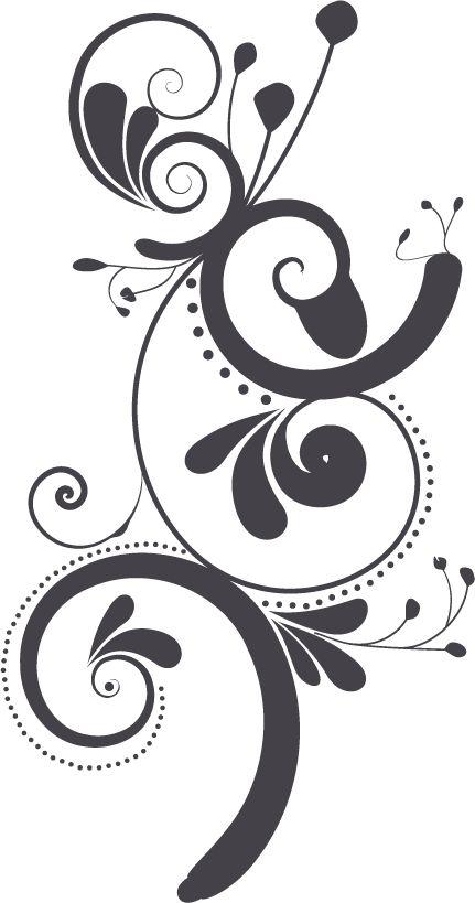 Swirl clipart stencil Pinterest Vector flower best images