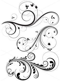 Swirl clipart stencil Of Vectors Pinterest line Swirls