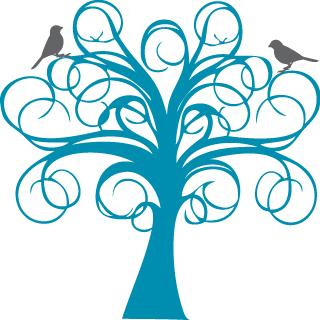 Tree clipart swirly #3