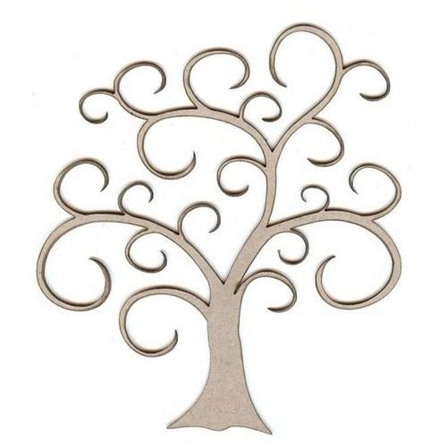 Tree clipart swirly #1