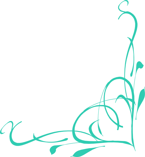Turquoise clipart border #2