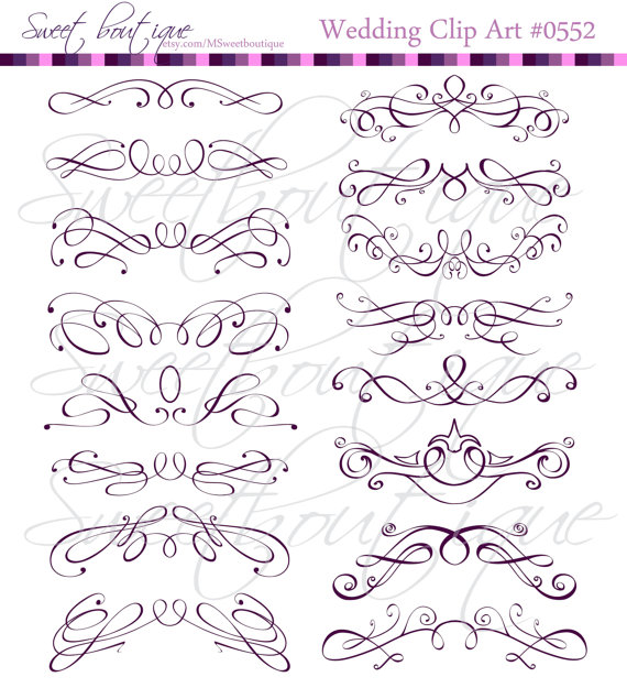 Swirl clipart victorian Swirls Clip Clipart  Art
