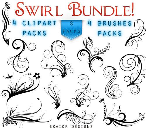 Swirl clipart victorian Brushes Victorian Flourish Photoshop Victorian
