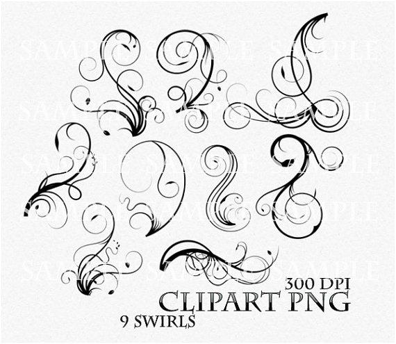 Swirl clipart victorian Digital Flourish Digital skaior Clipart