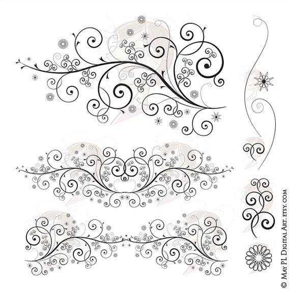 Curl clipart fancy Download Fancy Floral Art Design