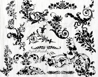 Swirl clipart western 6  Flower clipart art