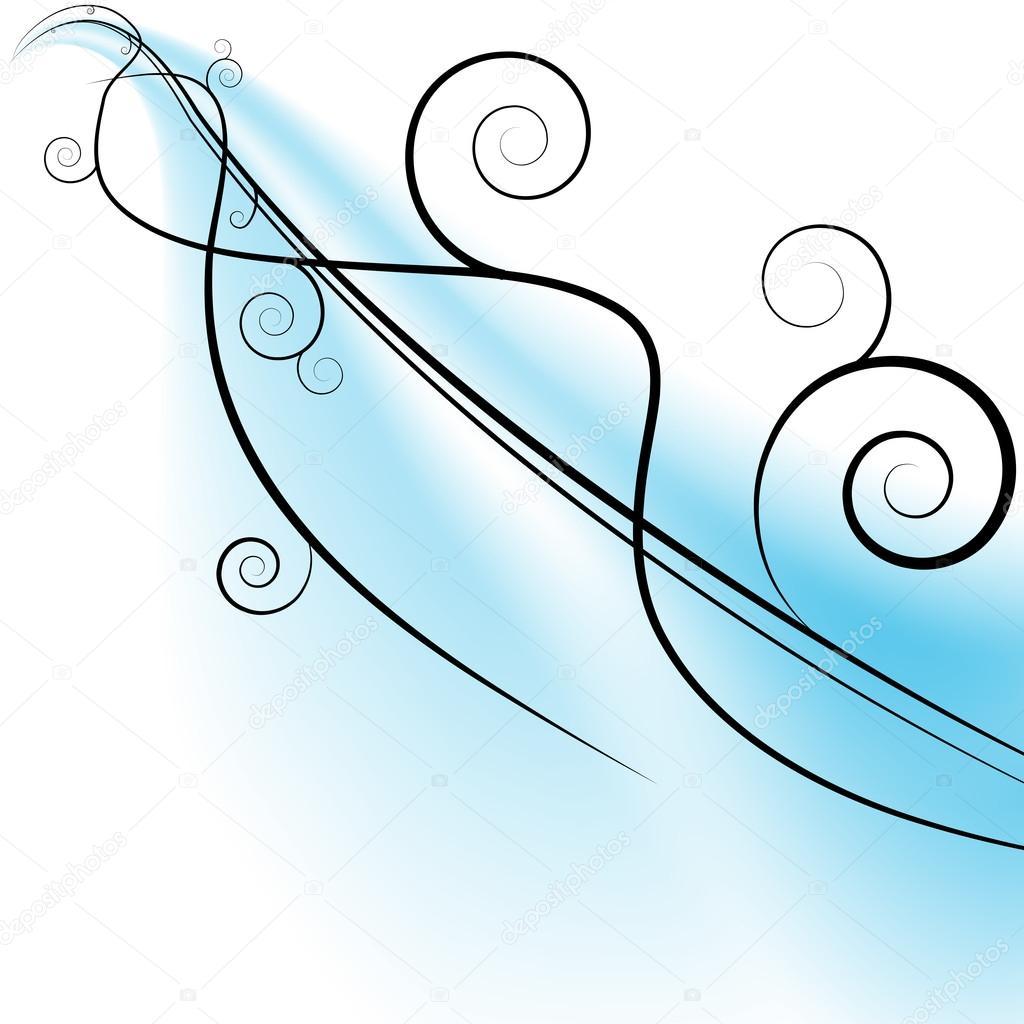 Wind clipart wind swirls Vector Swirls blue #5578439 —