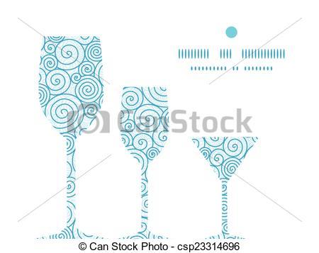 Swirl clipart wine Three of glasses Vector glasses