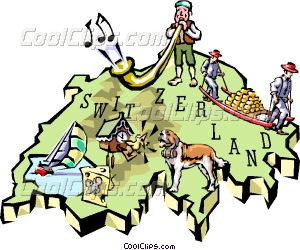 Switzerland clipart Switzerland map Vector Clip Switzerland
