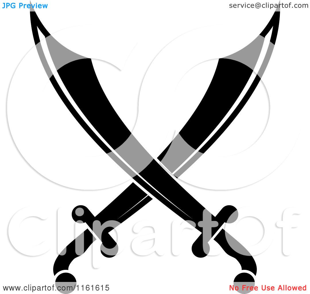 Sword clipart cross Crossed swords sabers clipart swords