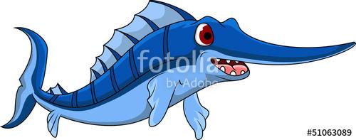 Swordfish clipart animated Royalty Cartoon files files on
