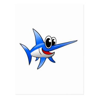 Swordfish clipart cartoon Swordfish Cartoon Gifts Postcard Zazzle
