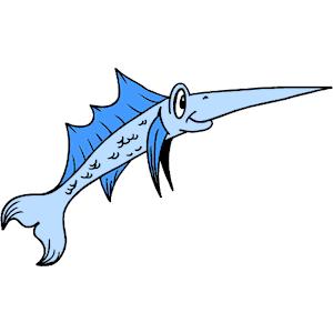 Swordfish clipart cartoon Of download Swordfish Swordfish free