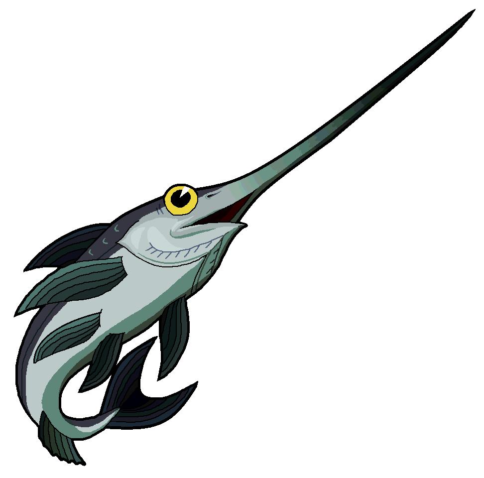 Swordfish clipart cartoon Swordfish Clipart #129 Clipart #17