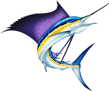 Sailfish clipart blue marlin #1