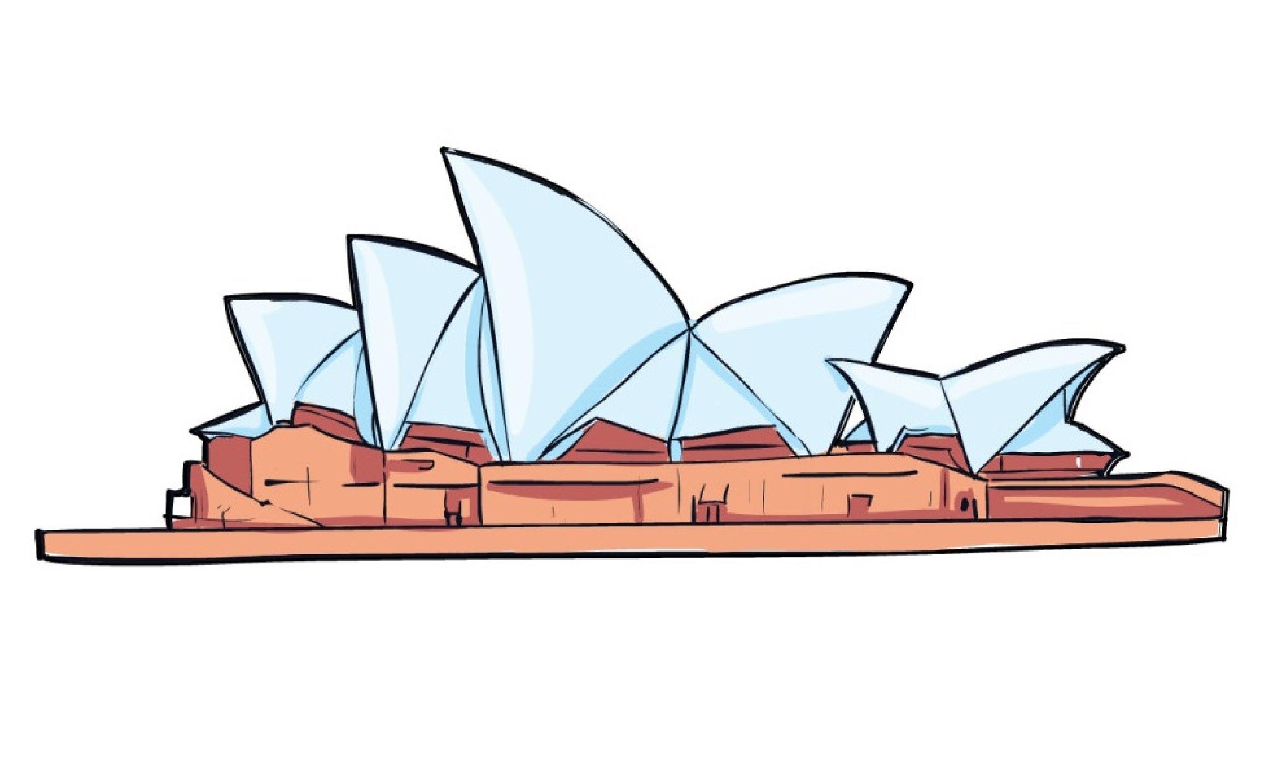 Sydney Opera House clipart A Сиднейский  How нарисовать