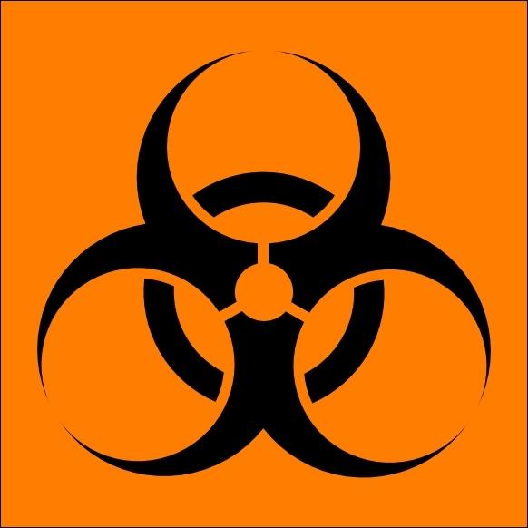 Symbol clipart biohazard Vector Free  Biohazard download