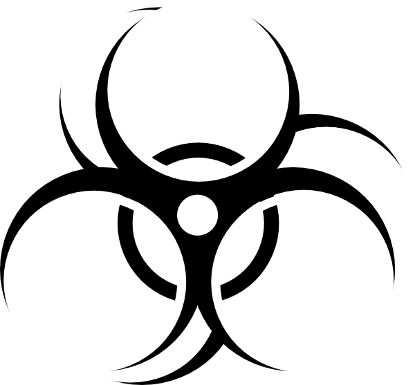 Symbol clipart biohazard White Art collection biohazard Clip