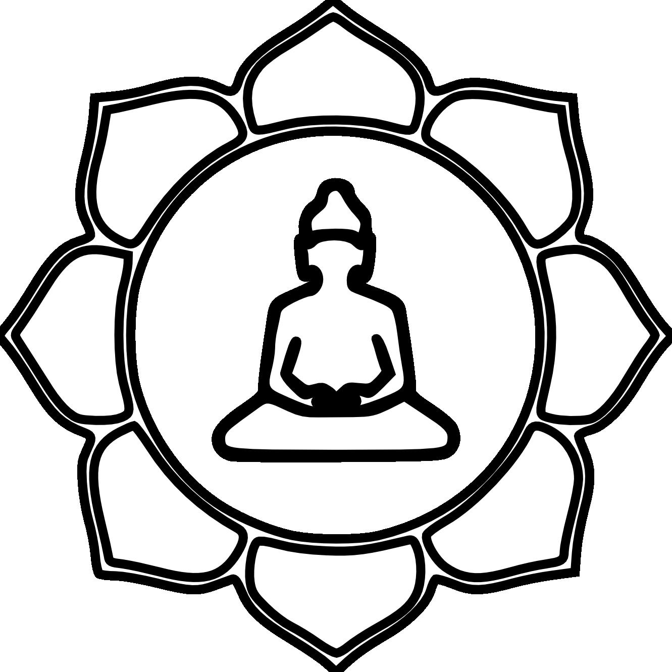 Zen clipart black and white Symbol Buddhism Free Buddhism clipart