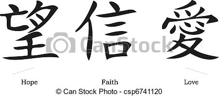 Symbol clipart chinese Vector hope love; Chinese of