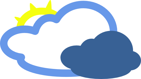 Clouds clipart cloudy weather Clouds this Clker Symbol Sun