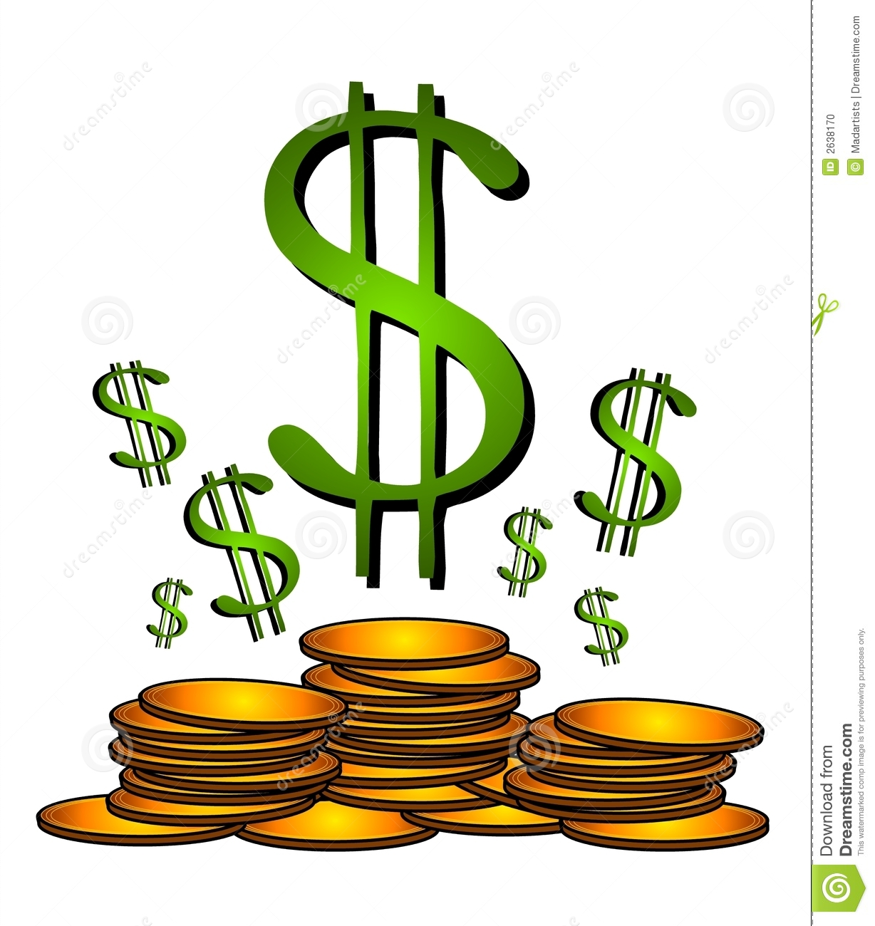 Cash clipart dollar sign #7