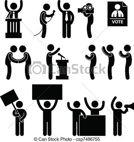 Symbol clipart election Reporter  Reporter Vote Vector