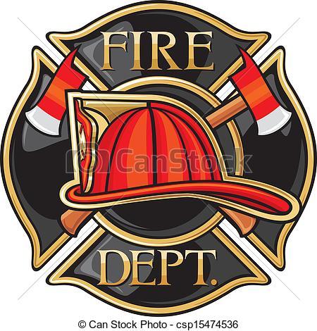 Firefighter clipart emblem #3