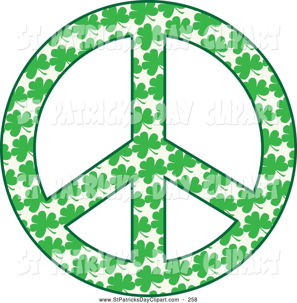 Symbol clipart irish Of Symbol Made Clovers Peace