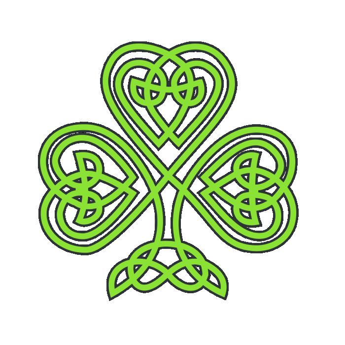 Celt clipart shamrock #1