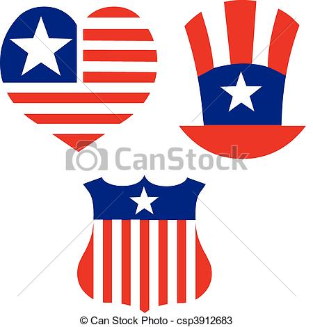 America clipart patriotism For and decorate set for