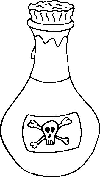 Symbol clipart poisonous Poison Clipart Black  White