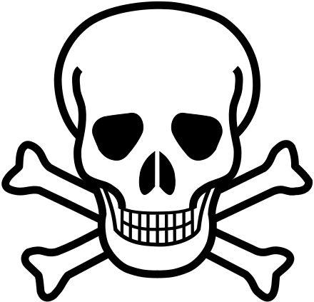 Symbol clipart poisonous Hazard encyclopedia Wikipedia Pinterest free